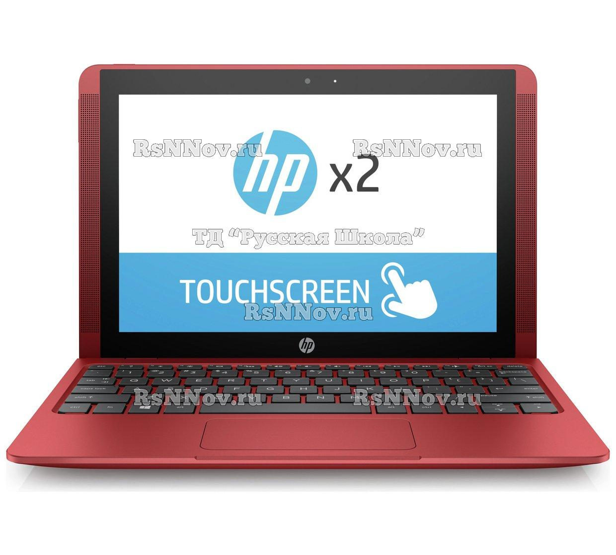 "Ноутбук-трансформер HP X2 Detachable 10-p004ur, 10.1"", IPS, Intel Atom X5 Z8350 1.44ГГц, 4Гб, 64Гб eMMC, Intel HD Graphics 400, Windows 10, Y5V06EA, красный"