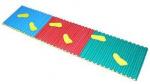 Детская массажная дорожка ребристая со следочками (160х40)