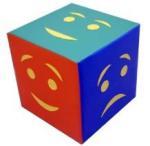 Детский дидактический кубик «Эмоции» простой