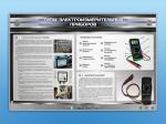 """Электрифицированный стенд """"Типы электроизмерительных приборов"""" с макетными образцами в разрезе"""