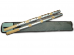 Городошные биты профессиональные (береза металл, набор 2шт)в чехле