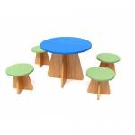 Игровой кукольный набор стол и 4 стула