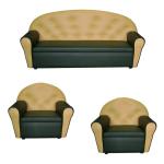 Комплект детский диван трехместный и 2 кресла Дошкольник