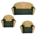 Комплект игровой диван двухместный и 2 кресла Дошкольник