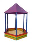 Песочница крытая (ПС 002) 2х2,2х3,3 м , шестигранная