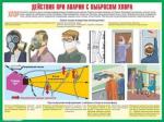"""Плакаты """"Действия населения при авариях и катастрофах техн. хар."""" (комплект 10 пл., 30x41 см)"""