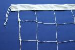 Сетка волейбольная (9,5х1 м) с растяжками нить 2 мм цвет белый/зеленый