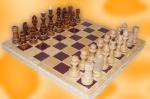 Шахматы обиходные парафинированные в комплекте с доской 290*145*38