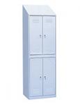 Шкаф для одежды 4-х секционный с наклонной крышей