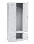 Шкаф для одежды двухстворчатый с отделениями под обувь 2000x600x500