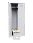 Шкаф для одежды двухстворчатый с откидной скамьей (верх липа)