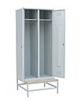 Шкаф для одежды на подставке с деревянной скамьей 800х770х2000