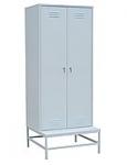 Шкаф для одежды на подставке с металлической скамьей 800х770х2000