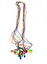 Скакалка L - 3,8м, цветная резина, ручка пластмасса