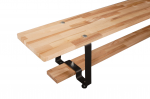 Скамейка гимнастическая 3,0 м (мет. ножки) (клееная древесина)