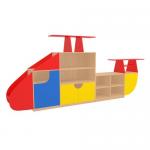 Стеллаж «Вертолёт» (цветной фасад)