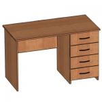 Стол письменный со встроенной тумбой (4 ящика)