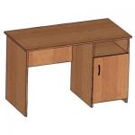 Стол письменный со встроенной тумбой (ниша + дверка с полкой)