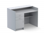 Стол приставной к демонстрационным столам, ЛДСП серого цвета