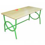 Стол регулируемый «Бамбуча» двухместный, столешница массив, с 1 по 3 м/к зеленый RAL 6018