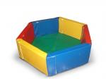 Сухой бассейн разборный шестиугольный (d-150см, h-40см, b-10см), расчитан на 800 шариков
