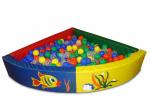 Сухой бассейн разборный угловой (r-150см, h-40см, b-10см), расчитан на 900 шариков