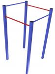 Турник-перекладина разновысокая 4-х секционная ФТ-4д.