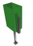 Урна прямоугольная 200х300,H-500мм -на 30л. ФУ-3
