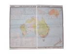 """Учебная карта """"Австралия и Новая Зеландия"""" (экономическая) (матовое, 1-стороннее лам.)"""