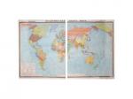 """Учебная карта """"Климатическая карта мира"""" (матовое, 1-стороннее лам.)"""