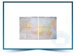 """Учебная карта """"Российская Федерация"""" (физическая) средн. школа (матовое, 2-стороннее лам.)"""
